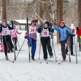 Соревнования лыжников